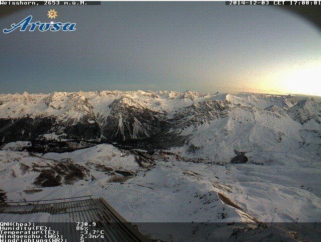 Webcam aus Arosa (3.12.) - © Arosa