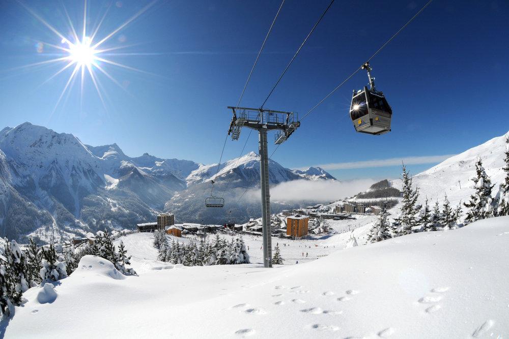 Vue sur la station d'Orcières Merlette (Hautes-Alpes) - © © Gilles Baron