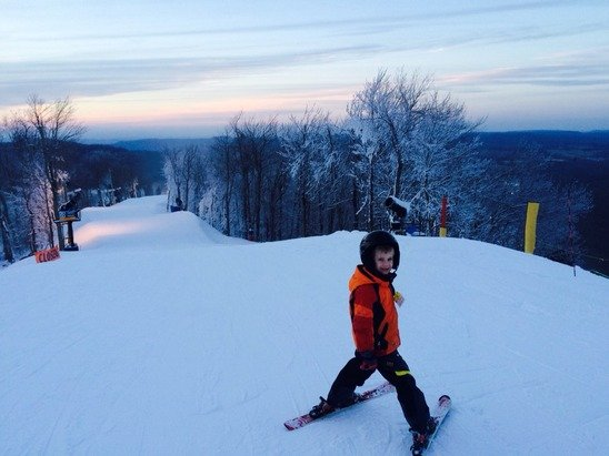 Great conditions for early season on Friday. No lines!