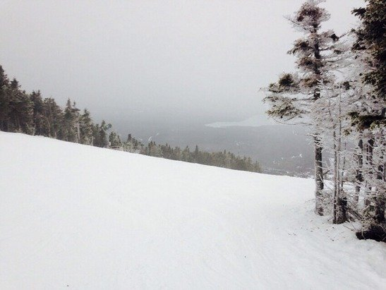 Not great conditions at saddleback mountain but good enough to ski