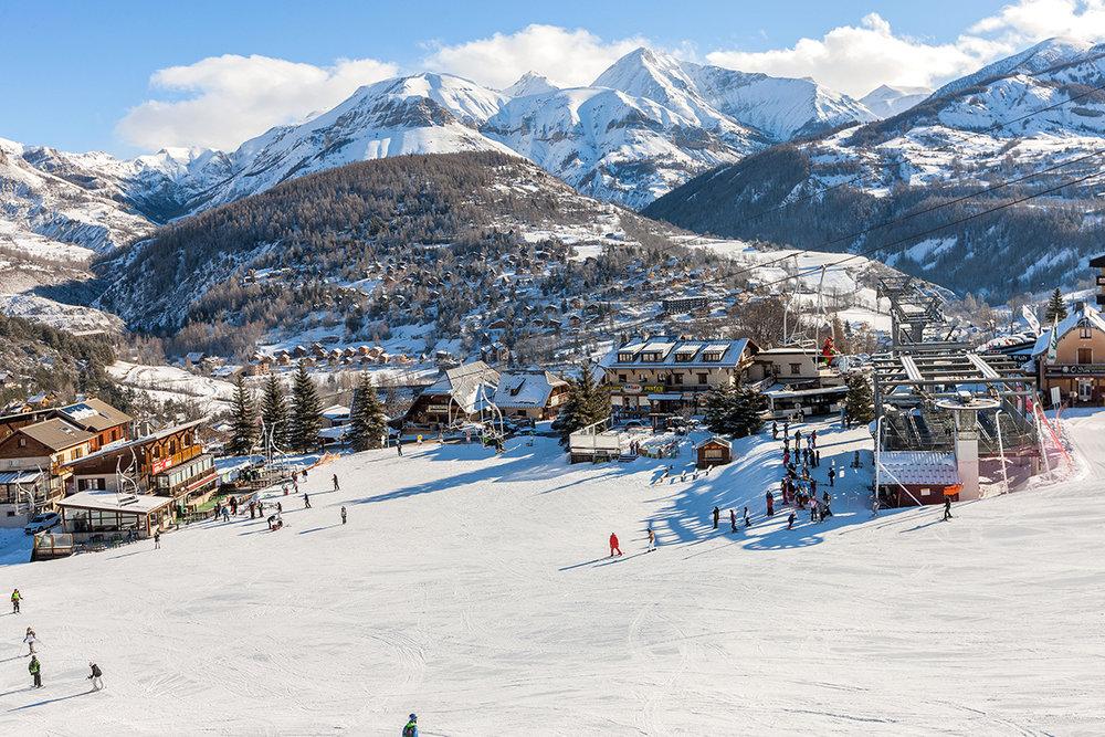 Le front de neige de Val d'Allos le Seignus - © R. Palomba / OT du Val d'Allos