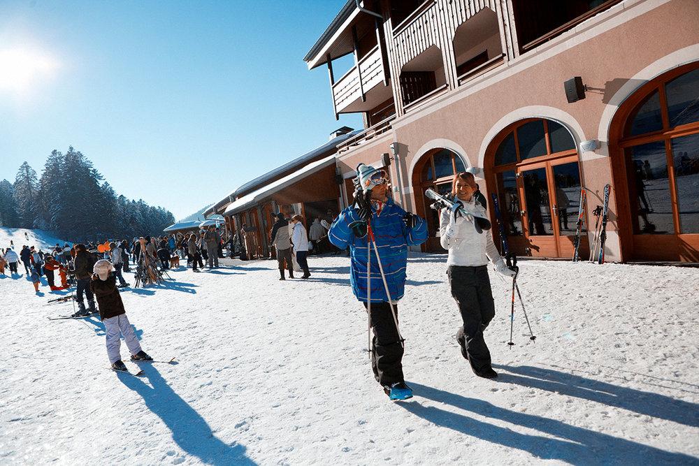 Sur le front de neige de La Bresse Hohneck - © Billiotte / OT La Bresse