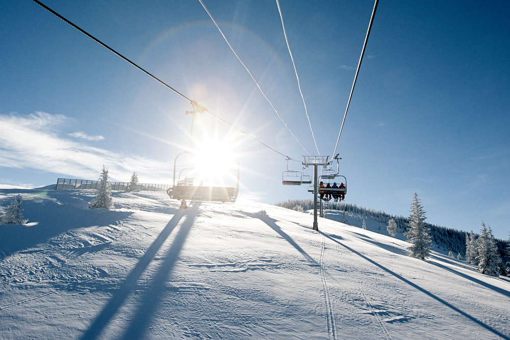 Wear your sunblock. Blue Sky Basin promises plenty of rays on a bluebird day. - © Daniel Milchev / Vail