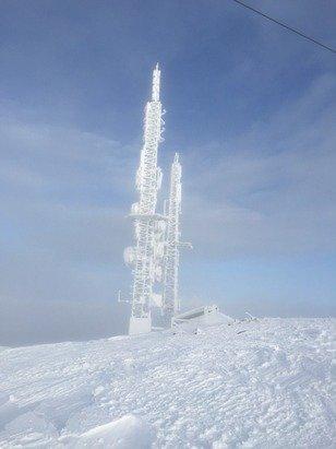 Supre forhold og 105 cm snø