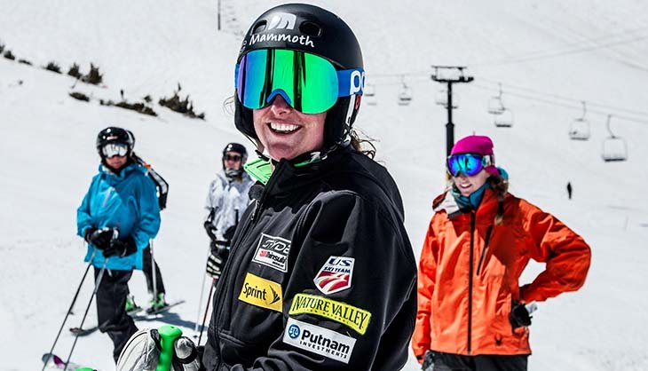 Three-time Olympian Stacey Cook leads a women's only ski camp at Mammoth Mountain Ski Area. - © Peter Morning/Mammoth Mountain Ski Area