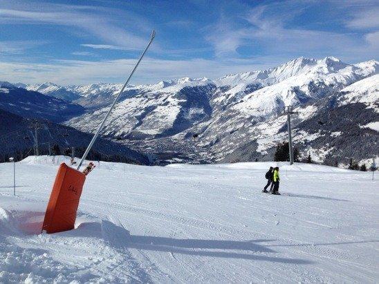 Superb ski day in La Rosière today