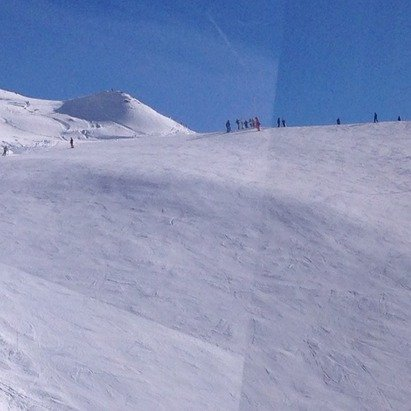 These reports of snow are lies. No snow very hard packed ice everywhere in the 3 vallees