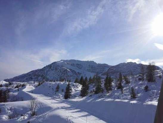 oggi neve spettacolare. giornata fantastica un po' di grecale