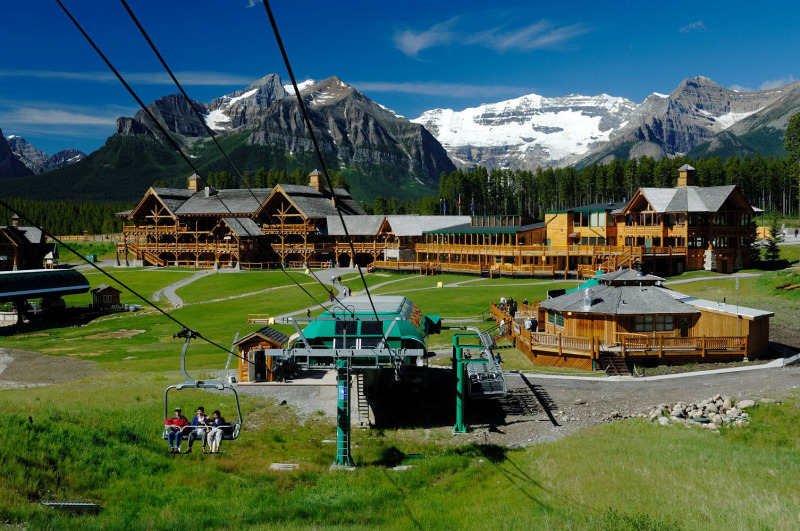 Lake Louise in summer. This image shot on contract with RCR.