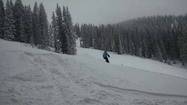 awesome today. will be all skiied out by end of day.