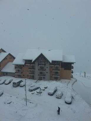 Schneefall.