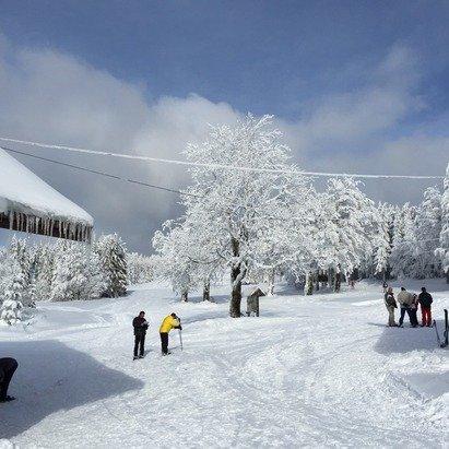 Belle journée avec une neige excellente!