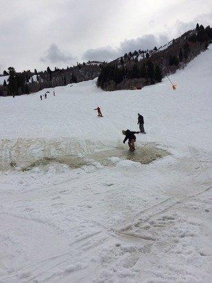 Lake Snowbasin at bottom of Needles