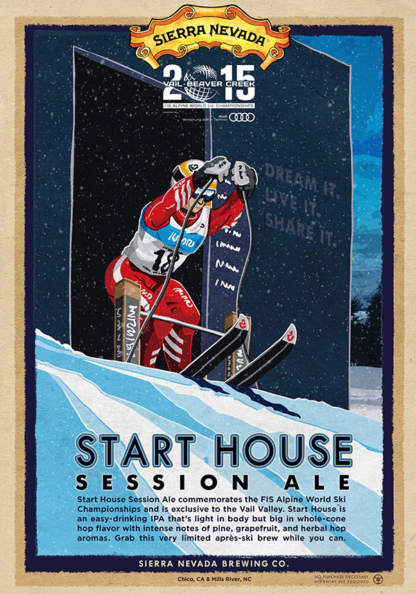 Sierra Nevada's Start House Ale, the official beer of the 2015 World Championships. - © Sierra Nevada Brewing Co.