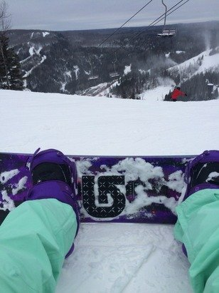 Snow was grate, weather was ASOWME, it was a grate day to snowboard!