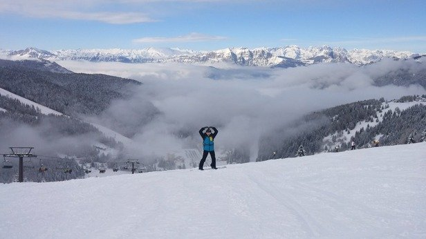 Lots of fresh powder!!! although, it needs to be packed and groomed..