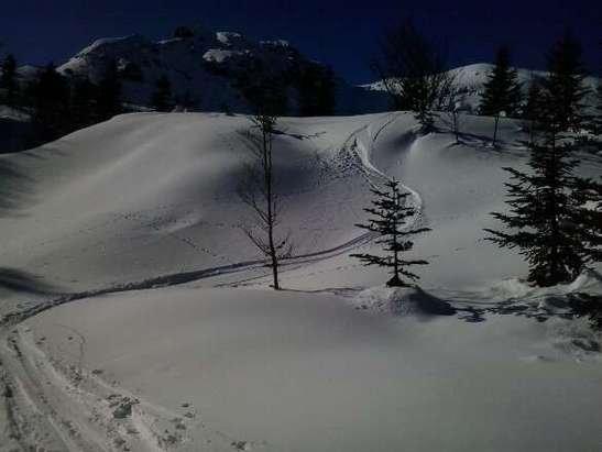 neige tres bonne sur le haut de la station