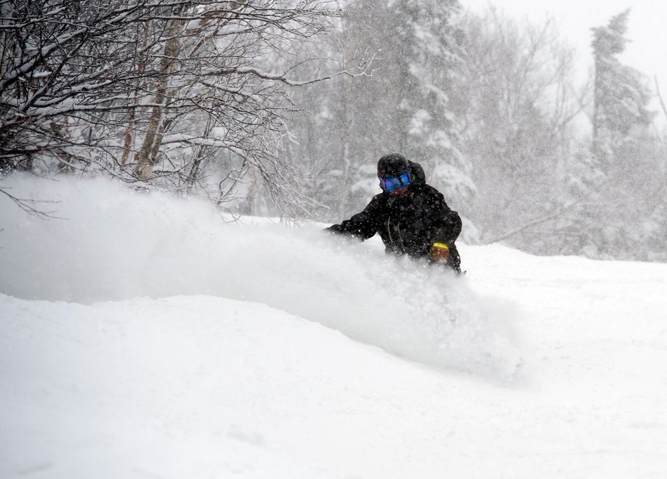 Cannon Mountain was a powdery no man's land in the midst of Juno. - © Cannon Mountain