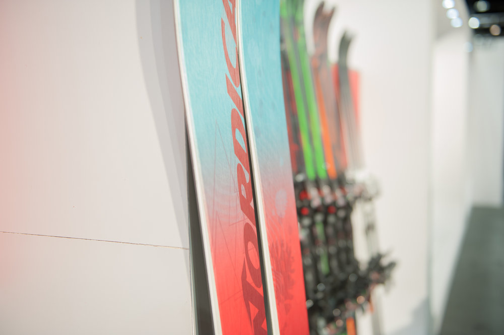 New for the 2016 collection, Nordica's Santa Ana all-mountain women's ski features the new Balsa core technology designed exclusively for women. Balsa core provides a strong damp metal-like feeling but is incredibly lightweight.  - ©  Ashleigh Miller Photography