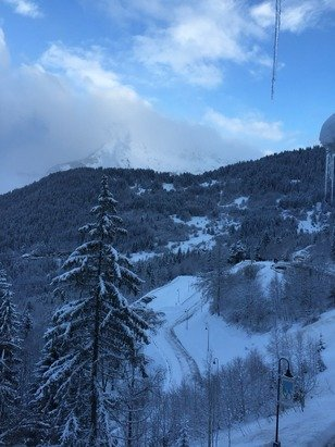 Beaucoup beaucoup de neige! Magnifique !
