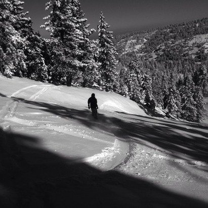 Yes this was Mt High three days ago it was dirt. But yesterday was all Pow