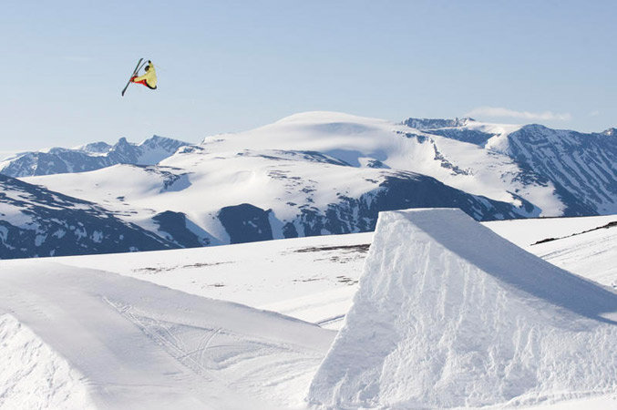 Alexander Aurdal on the Juvass kicker | Alexander Aurdal - © Josh Knox | Skiinfo Norge @ Skiinfo Lounge