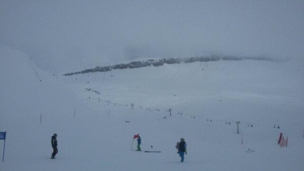 Schnee traumhaft, nur die Sicht ist miserabel!