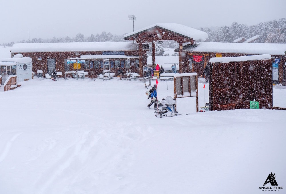 Snow refreshes the slopes in late February 2015 at Angel Fire Resort. - © Angel Fire Resort