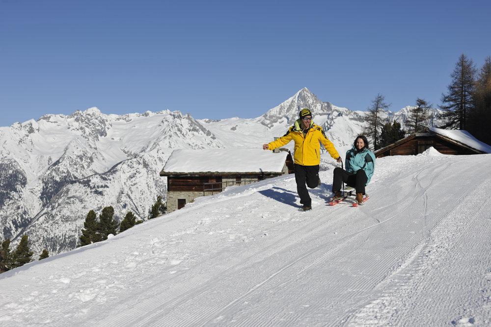 Man muss nicht immer Skifahren - © Philipp Gattlen - Moosalpregion