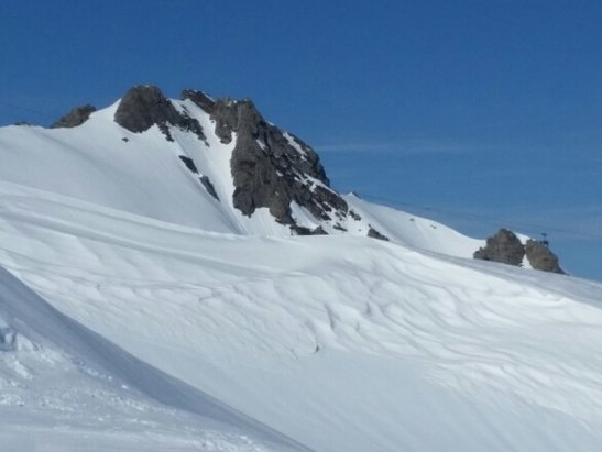 La Mongie / Barèges - Nearly perfect spring conditions, very top to bottom, LaMongie to Bereges in one run at 4pm yesterday. - © CaliforniaMike