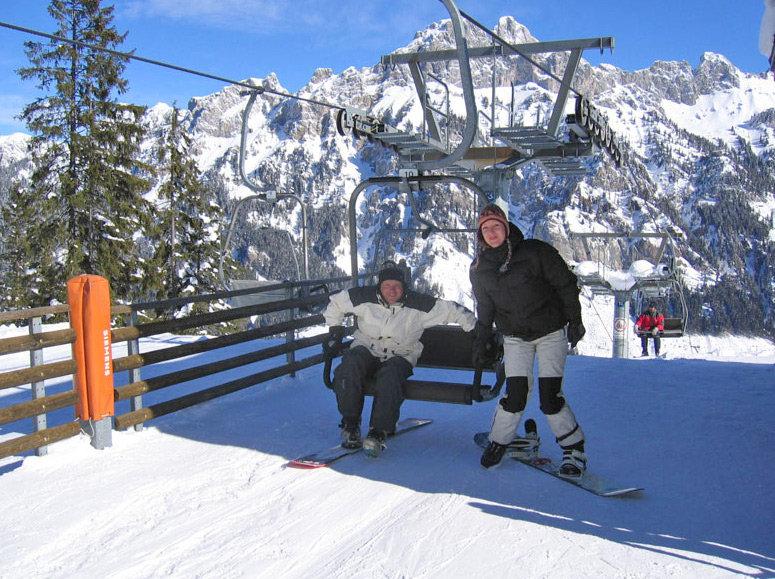 Snowboarding ist hier ebenso gut möglich wie Skifahren - © Liftgesellschaft Nesselwängle