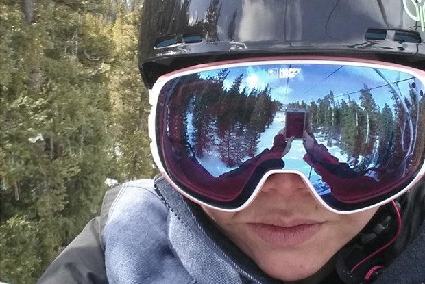 Spy Optic Bravo Goggle on-snow test. - © Jeannie Nguyen