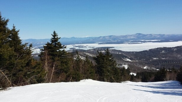 Gunstock - Great Day of family and friends.  Warmest day of the season for us with temps in the upper 20's.  Snow.very hard and scraped off by 2. - ©Labrat