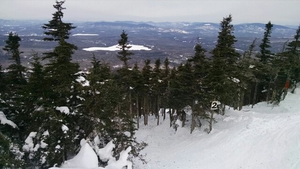 Saddleback Inc. - Pretty nice conditions at Saddleback today. Glades skiing really well. Fun times and 6-12 new on the way! - ©NESkier22
