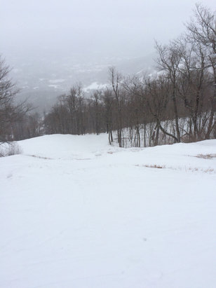Windham Mountain - It's a little choppy over by upper whiteout but other than that it's a great ski day!!