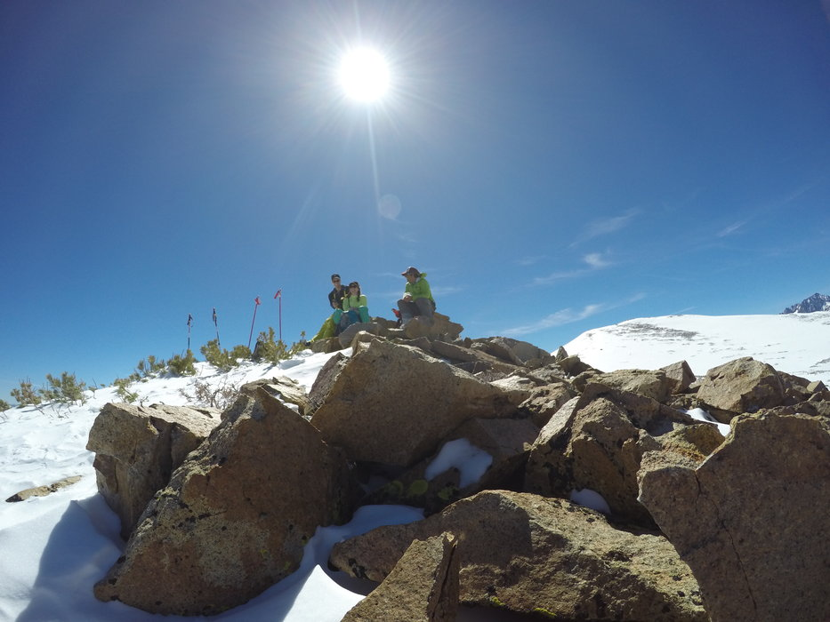 At the summit of our backcountry touring adventure. - © Victor Roberto