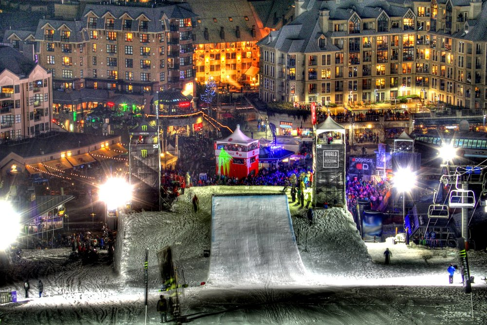 The big air venue at the World Ski and Snowboard Festival at Whistler Blackcomb. - © WSSF/Dave Humphreys