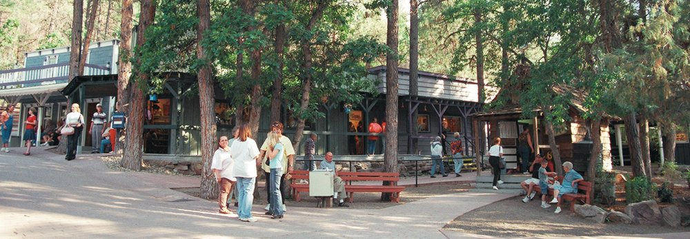 The Bar D Chuckwagon shops of Durango, CO.