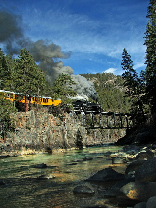 A scenic train ride in Durango, CO.