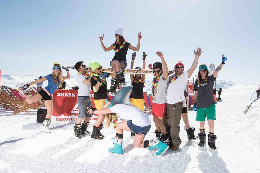 Pasqua e 25 Aprile sulla neve in montagna! - © Roby trab - Carosello 300 Ski Area Livigno Facebook