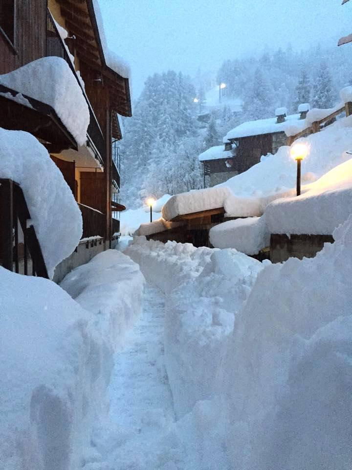 Viel Schnee im Januar im Piemont