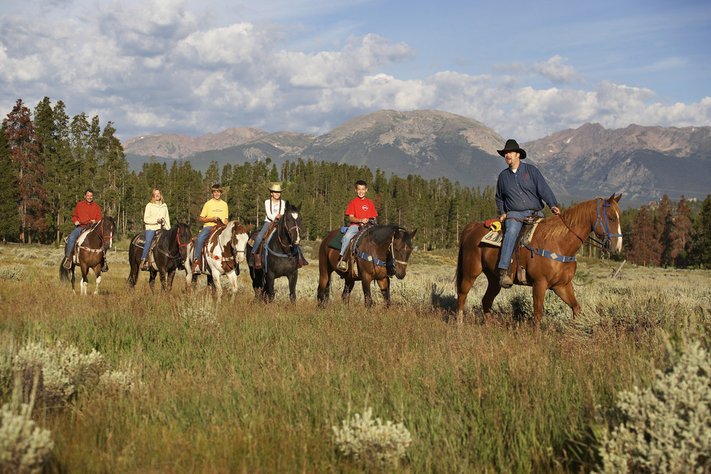 A Family Horseback Riding