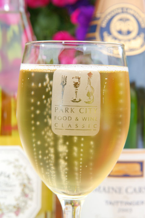 A glass of the sparkling wine at the Park City Food & Wine Classic.