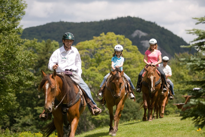 Horse riders at the Pico Adventure Center, Killington, Vermont.