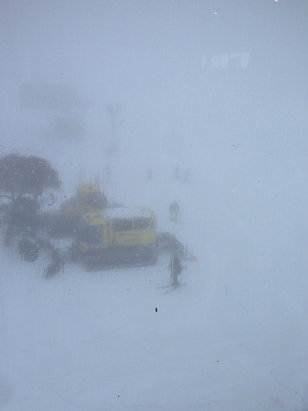 Perisher - Perisher blue cow today - bad vis, high winds, generally crappy. There's your report! - © Jemma's iPhone