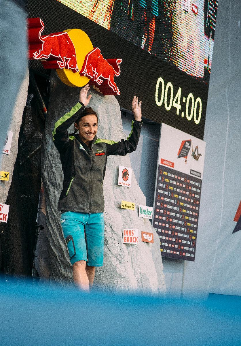 Juliane Wurm holte sich bei der EM in Innsbruck den Sieg - © Elias Holzknecht