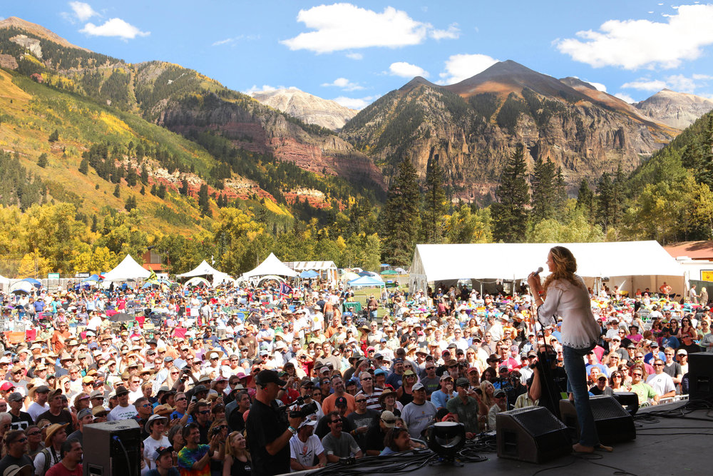 One of the best concert backdrops in the whole world. - © Telluride Blues & Brews