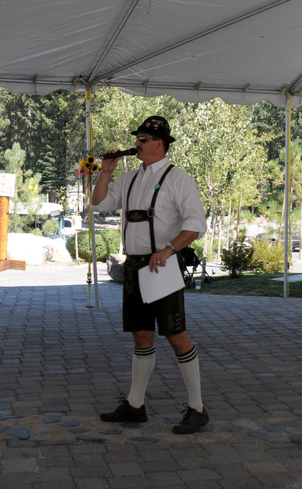 A singer in German garb at Mammoth's Oktoberfest