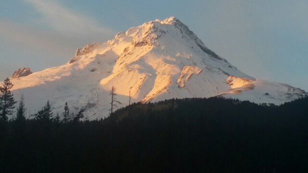 Mt. Hood Ski Bowl - drove by today looking better up there..more tonight... - © kenhousman57
