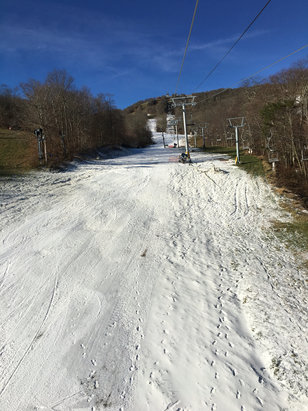 Sugar Mountain Resort - Opening day after only two nights of snowmaking, great to be back on the hill again though!  - © Caleb Rio-Anderson's iPh